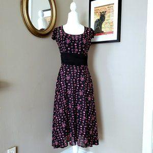 Bettie Page by Tatyana Retro Pinup Dress Small EUC